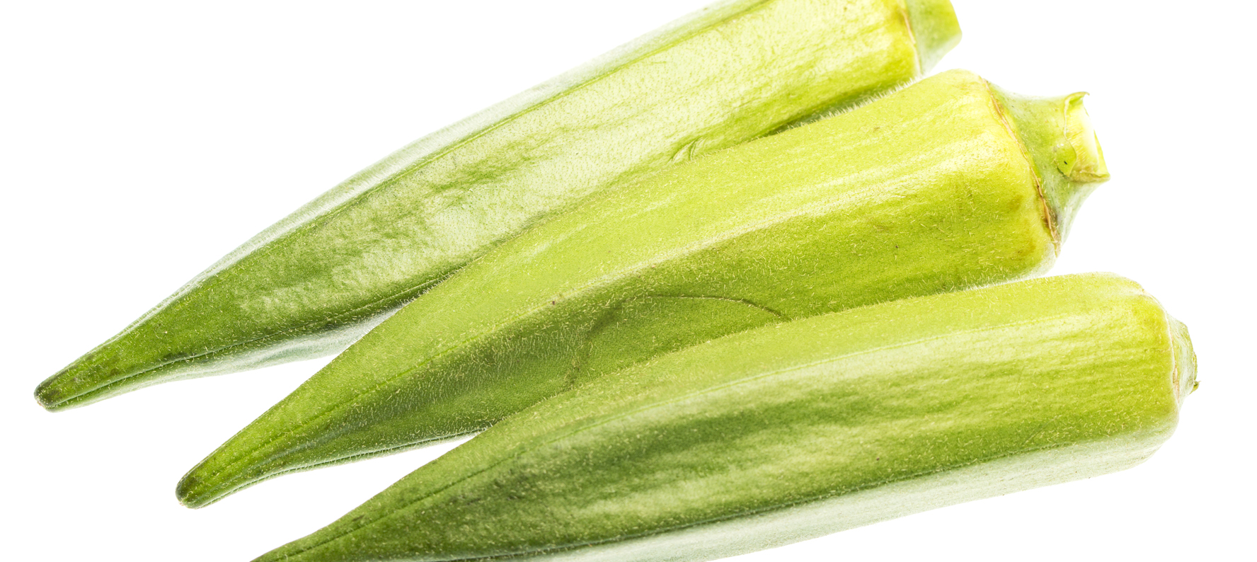 Abelmoschus esculentus (okra) is used in natural skin care products for its anti-oxidant and anti-inflammatory benefits.
