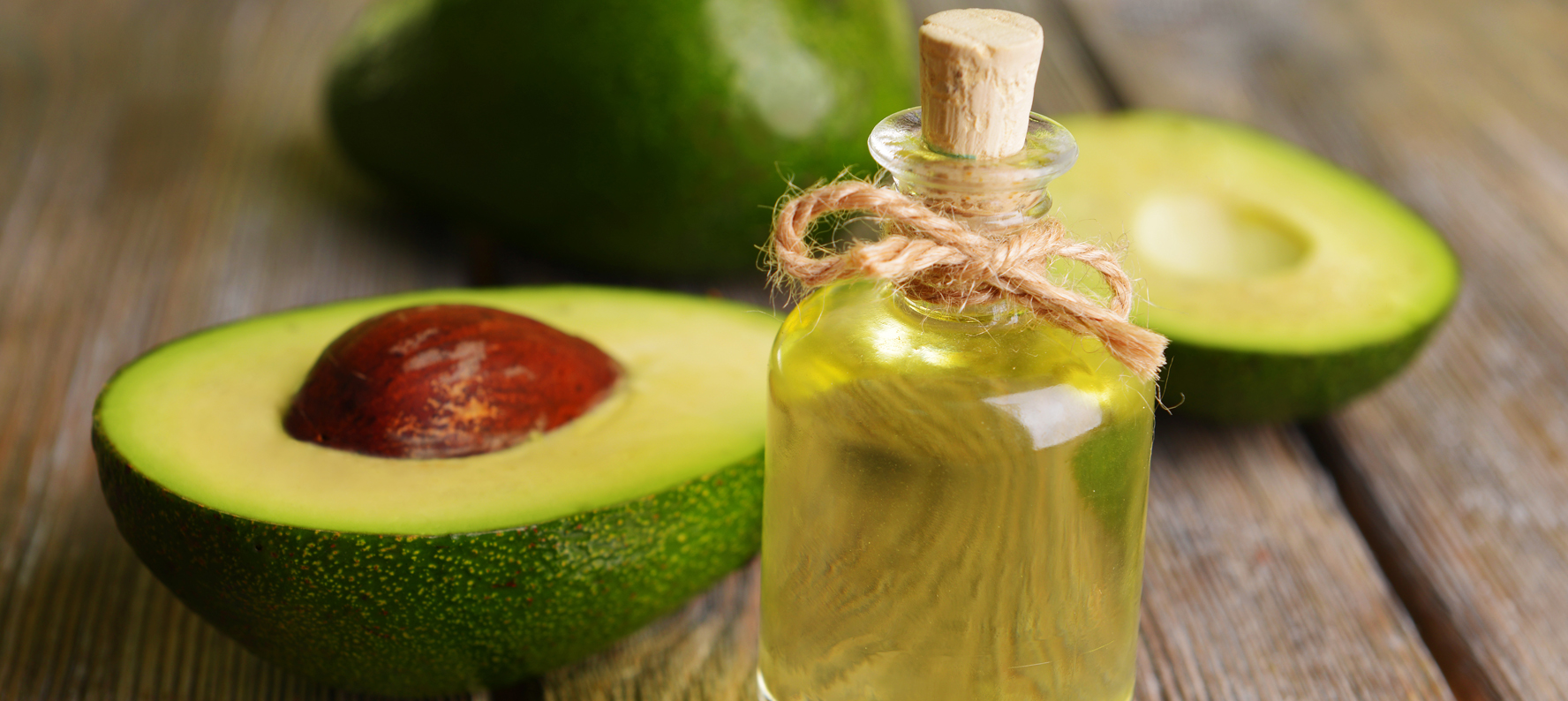 Avocado oil is used in natural skin care products for its numerous properties.